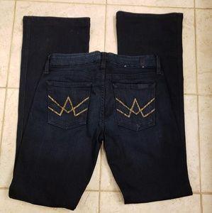 7FAM dark wash A pocket jeans, size 28